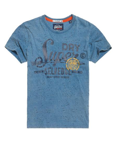 marineblau indigo mit durchgehendem print Superdry The Craftsman Indigo T-Shirt
