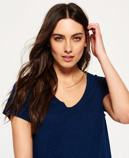 canyon blue Superdry Neppy Slouch T-shirt