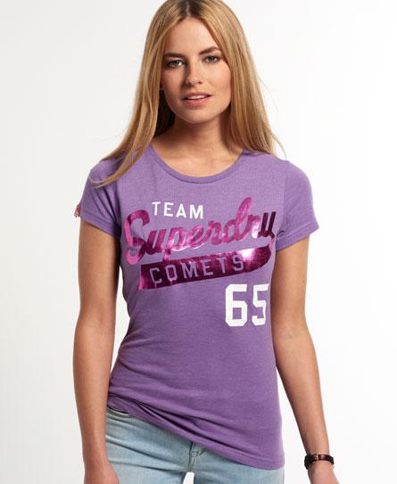 Superdry Team Comets T-shirt Purple