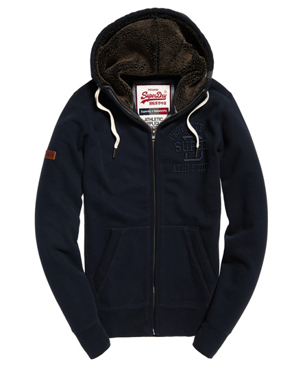 superdry kapuzenjacke mit applikation herren hoodies. Black Bedroom Furniture Sets. Home Design Ideas