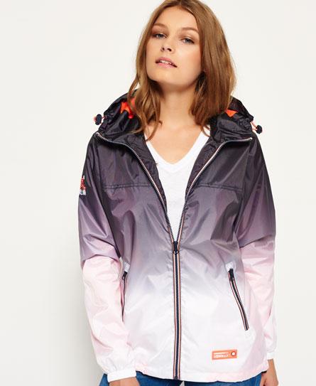 superdry veste imperm able zipp e a ro tricolore vestes et manteaux pour femme. Black Bedroom Furniture Sets. Home Design Ideas