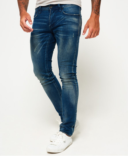 slate blue distress Superdry Skinny jeans