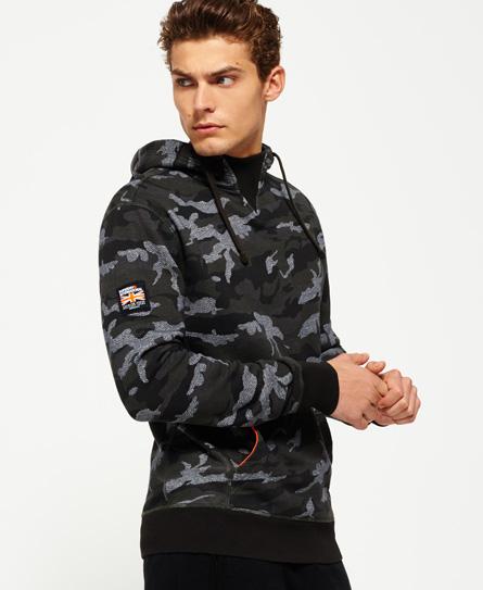 khaki camo/grey grit Superdry Rookie Camo hættetrøje