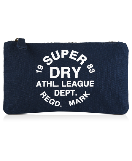 navy Superdry Athletic League Pencil Case