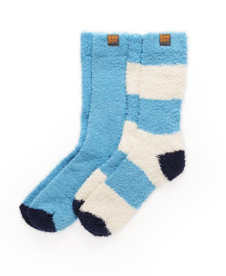 Superdry Terry Sock Twin Pack Blue