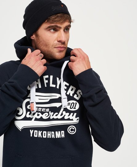 dunkel marineblau Superdry High Flyers Hoodie