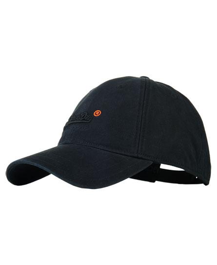 black Superdry Orange Label Solo Cap