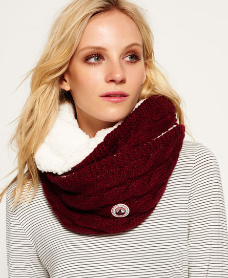 loganberry nep Superdry Clarrie Snood