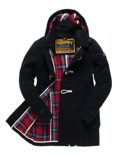 Superdry classic duffle coat for Mens