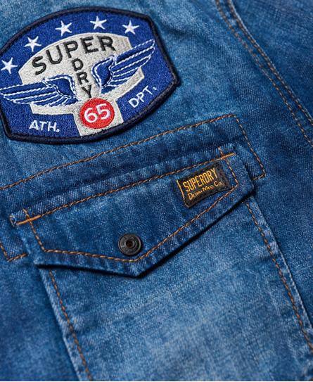 Superdry Dragway Langarm-Jeanshemd mit Aufnähern