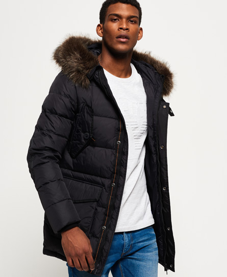 Superdry Longline Down Chinook Parka Jacket - Men's Jackets