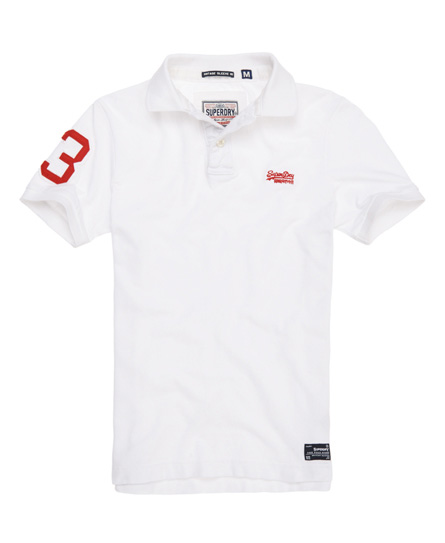 Superdry Destroyed Pique Polo White