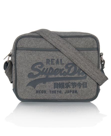 Superdry Mini Melton Alumni Bag Grey