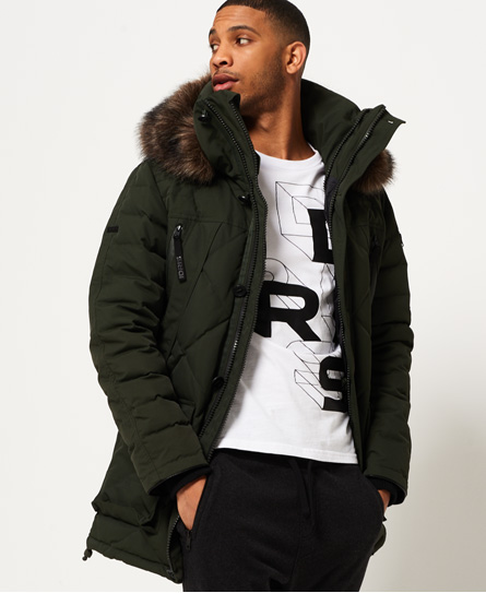 Mens - 1st AD Down Quilted Parka Jacket in Deep Khaki | Superdry : quilted parka jacket - Adamdwight.com