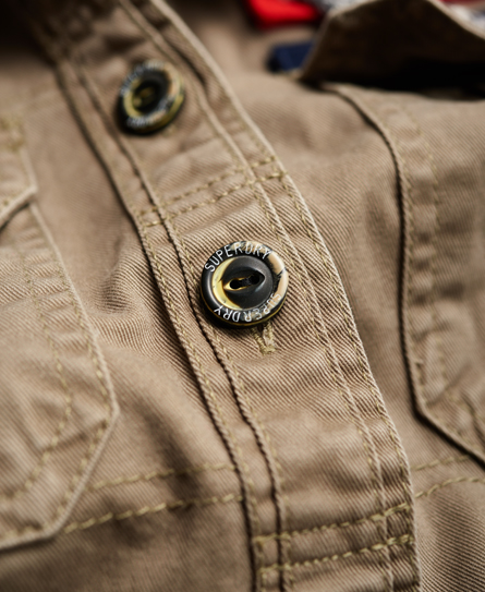 Superdry Washed Twill Military Shirt
