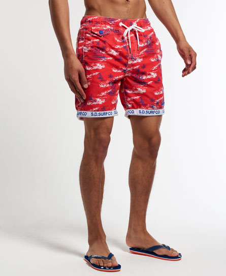 Superdry Short Honolulu Rouge