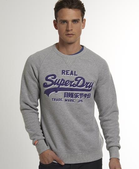 Superdry Vintage Logo Jumper Grey