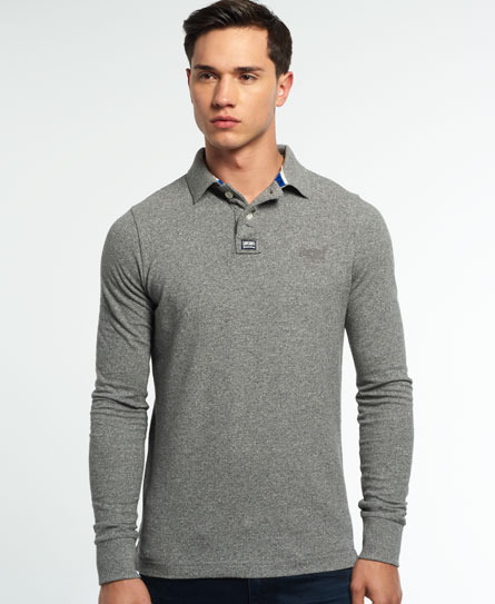 quarry grey grindle slub Superdry Klassiek piqué poloshirt