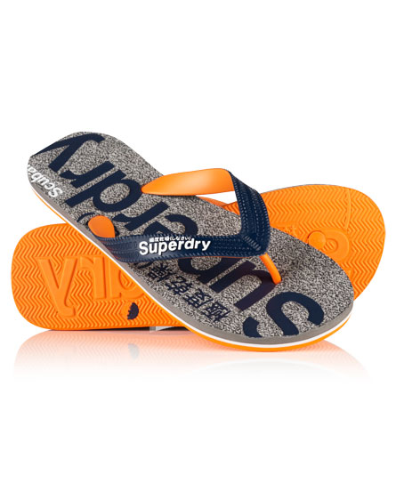 Superdry Scuba Marl Thongs Grey
