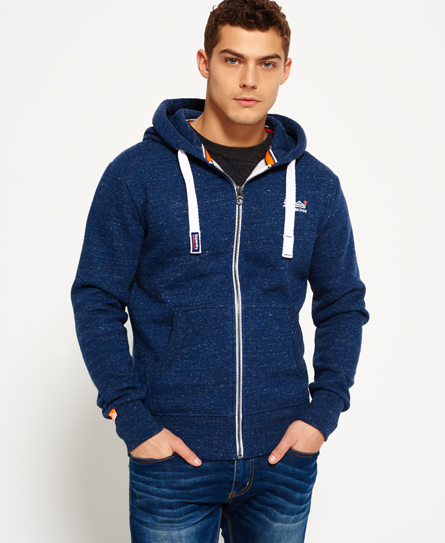 Superdry Sudadera con capucha y cremallera Orange Label Marino