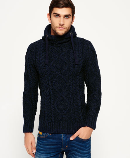 Superdry Sweat à capuche en maille Blizzard