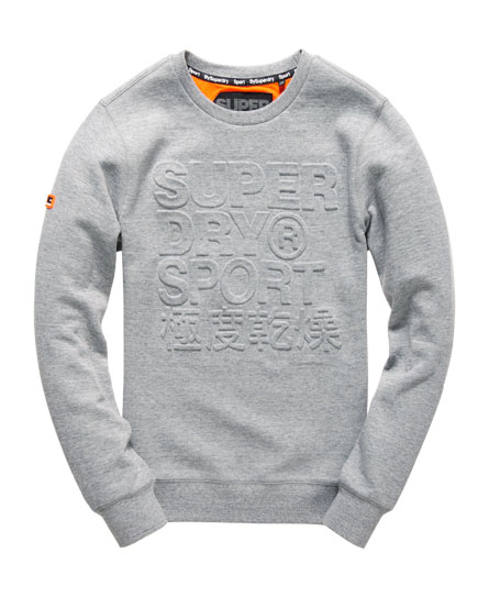 Gym Tech Embossed Crew Sweatshirt