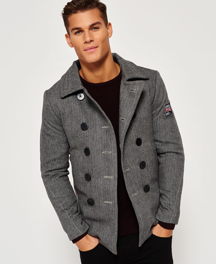 Superdry Rookie Pea Coat - Men's Jackets