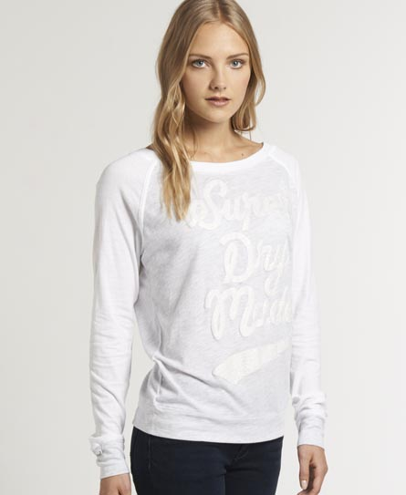 Superdry Starlet Raglan Crew Light Grey