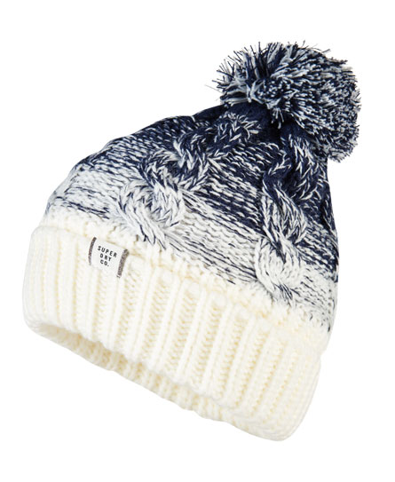 dark navy/cream Superdry Ombre Clarrie Beanie