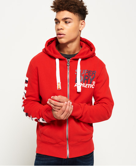 riviera rot Superdry Athletic Kapuzenjacke