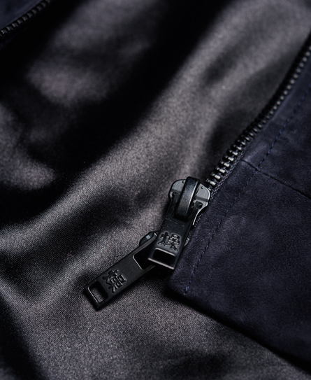 Superdry Slim Suede Bomber Jacket