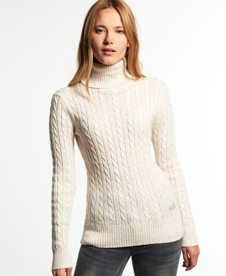 This gorgeous jumper is the perfect layering piece this winter. In a versatile cream with long sleeves, a rounded neckline and ribbed knit, it's a stylish option for colder days%(1).