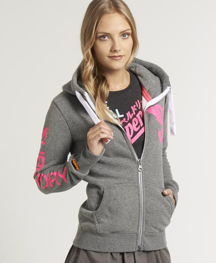 Superdry Swing Zip Hoodie Grey