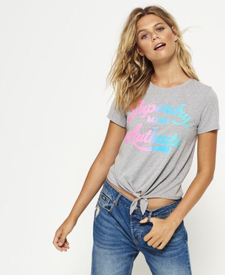 T-shirt noué Made AuthenticSuperdry Q0Mcx