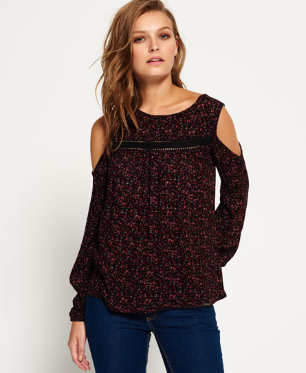 Superdry Fern Bluse mit Cut-outs