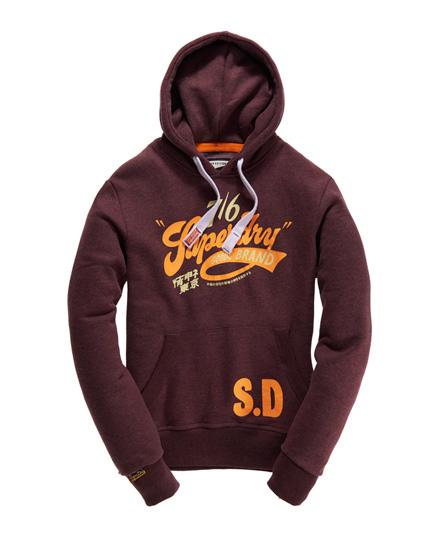 Superdry Goods Brand Hoodie Purple