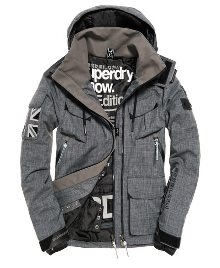 superdry veste de ski ultimate snow service vestes pour homme. Black Bedroom Furniture Sets. Home Design Ideas