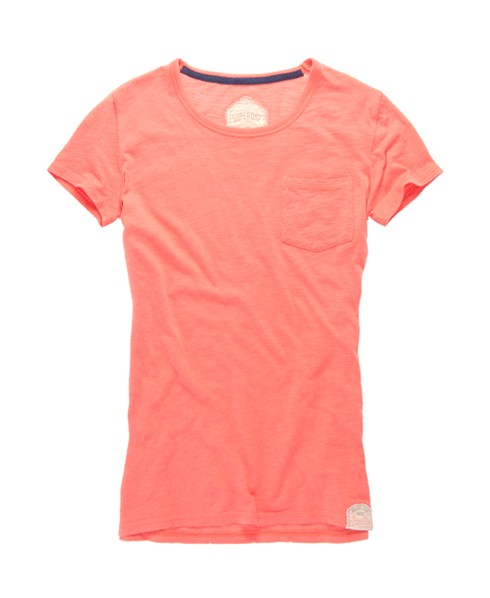 Superdry Boyfriend Pocket T-shirt Pink