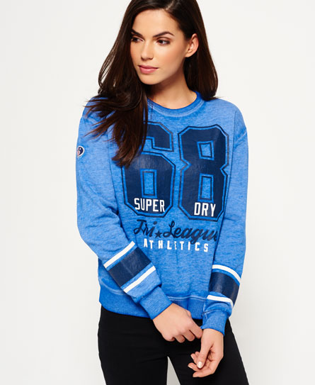 Superdry Tri League Crew Sweatshirt Outlet Limited Edition Limited Buy Cheap Discount Knock Off YDkAbaC