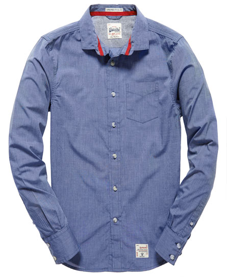 Superdry Cut Collar Shirt Blue