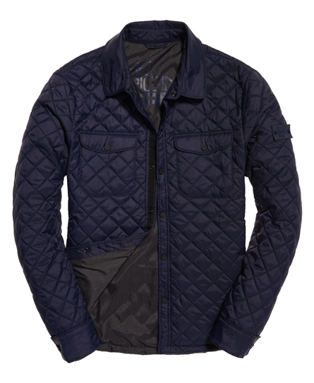 Superdry Fuji Diamond Quilt Shirt Jacket