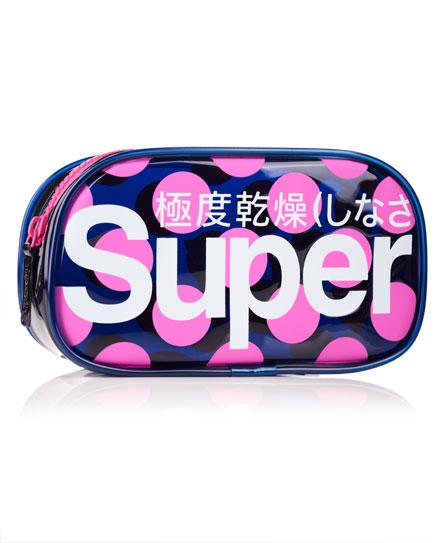 navy/pink Superdry Polka Neon Bag