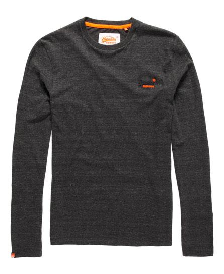 Vintage Orange Label T-shirt met opgestikt logo