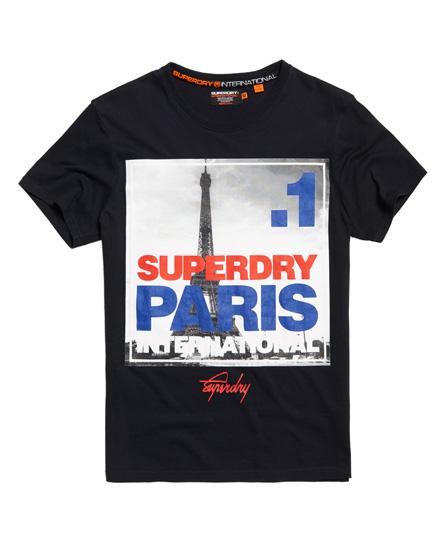 Superdry Superdry T-shirt med firkantet fotoprint af Paris