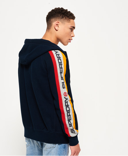 Superdry Trophy Sleeve Panel Zip Hoodie