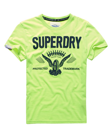 Mens Superdry Shirt Label Line Tee