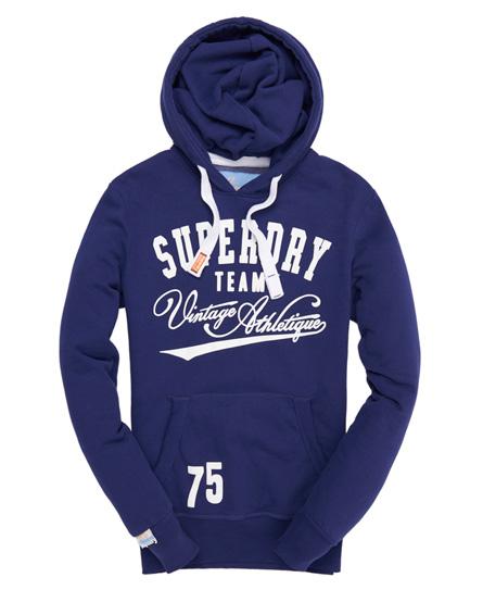 Superdry Team 75 Tin Tab Hoodie Navy