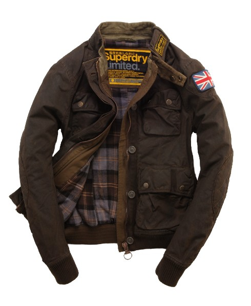 Superdry Waxed Dirt Trials Bomber Green
