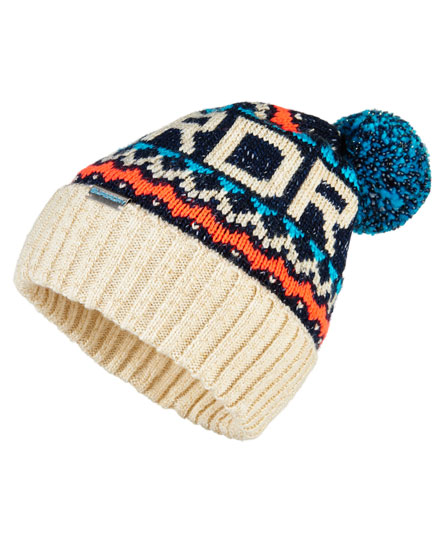 navy Superdry Jacquard Beanie
