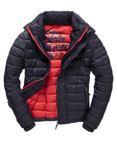 mens fuji triple zip through jacket in navy rebel red superdry. Black Bedroom Furniture Sets. Home Design Ideas